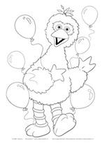 Kleurplaten Kerst Sesamstraat.Uitgeverij Stam B V