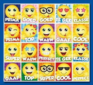 Serie 44 - smiley's met tekst