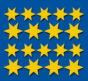 Serie 75 - gouden sterren
