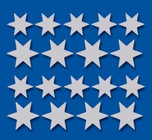 Serie 76 - zilveren sterren