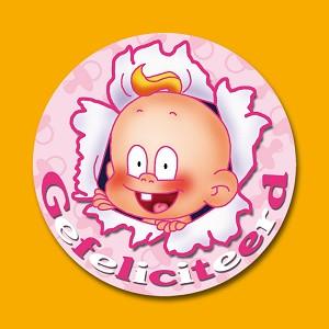 Serie 111 - baby gefeliciteerd roze