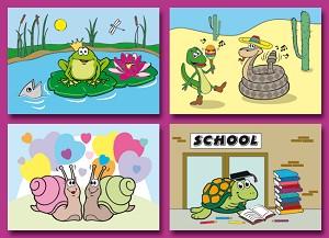 Serie 2001 - funny reptiles