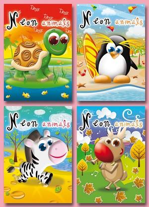 Serie 11075 - neon animals
