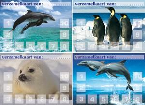 Verzamelkaarten zeedieren serie 703